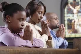 family in church
