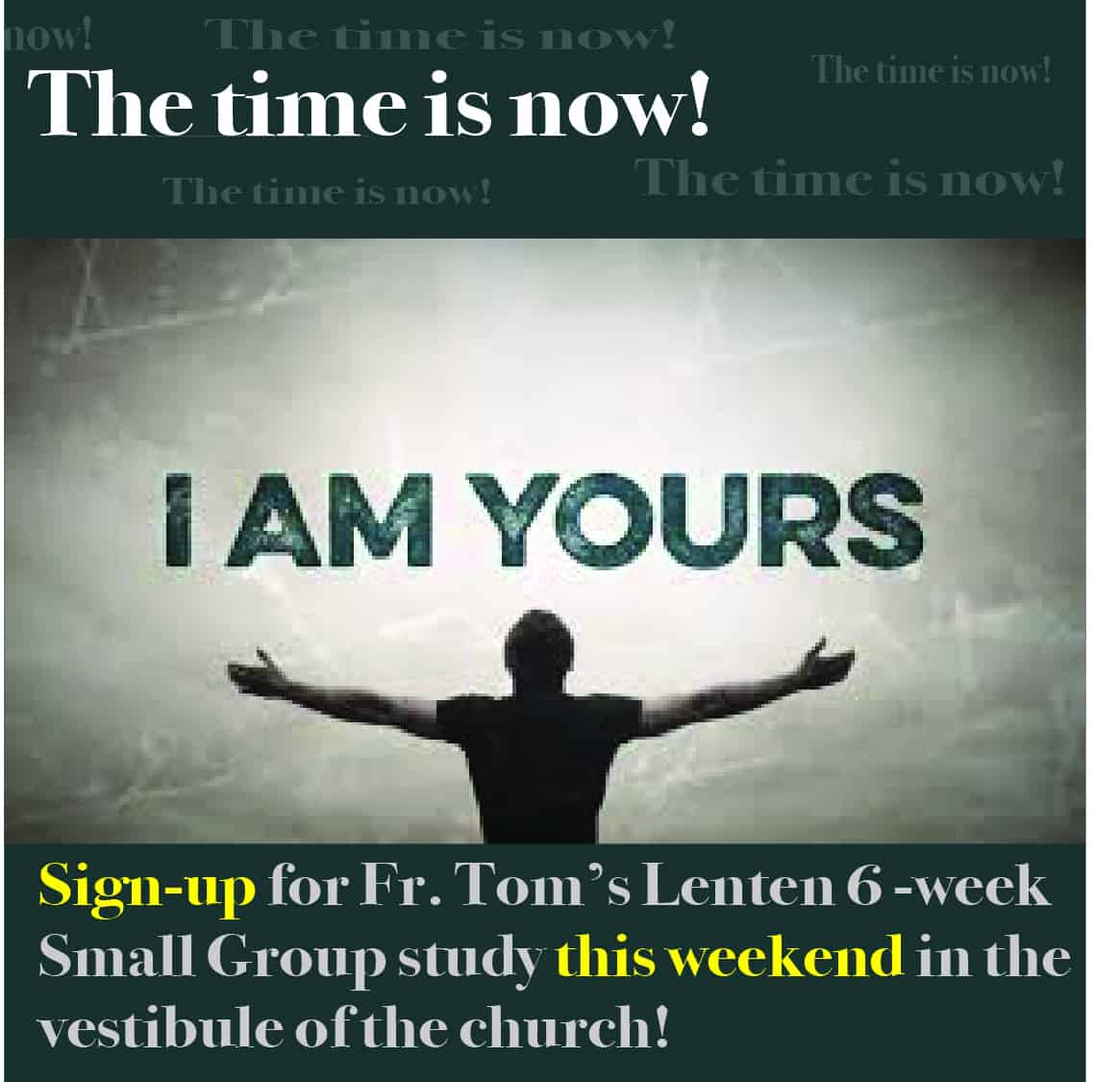 I am yours signup image